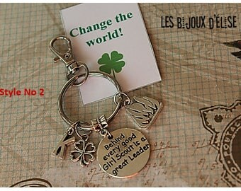 Girl Scout Keychain Personalized Motivational Keychain