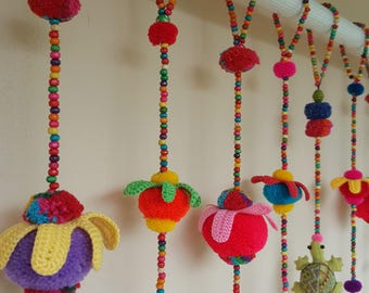 Elephant set A_100% Handmade Cute Doll Beads Curtain For Home Decoration (For Window) Chang A