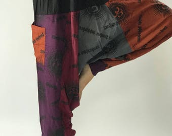 HO0006 Rayon baggy unisex harem pants,Thai rayon Style Harem Yoga Pants, Harem pants