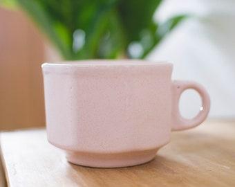 Pink Hexagon Mug