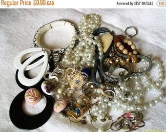 Destash jewelry pieces for crafting - jewelry lot - craft supplies - destash lot - jewelry