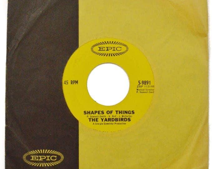 Vintage 60s The Yardbirds Shapes of Things Blues Rock 45 RPM Single Record Vinyl