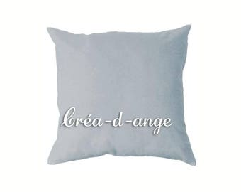 Cushion or light gray pillow cover 40 x 40 cm in cotton