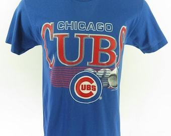 Vintage 90s Chicago Cubs T-Shirt L Deadstock MLB Baseball 50/50 [H63Q_0-7]