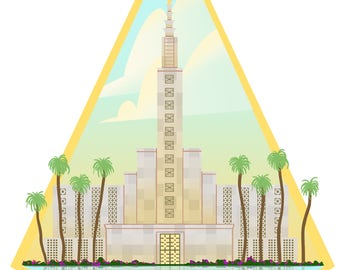Los Angeles Temple Print | Los Angeles, California Temple | LA Temple | LDS Temple Painting | LDS Wedding Gift | lds Missionary Gift