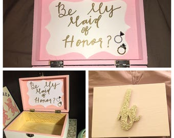 Bridesmaid / Maid of Honor Box (8x6x3)
