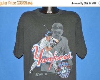 ON SALE 80s New York Yankees Don Mattingly t-shirt t-shirt Large