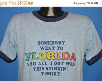 ON SALE 80s Somebody Went To Florida All I Got Was This t-shirt Large