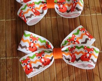 Fox Hair bow clips