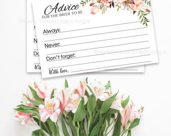 Marriage advice, newlyweds advice, bachelorette advice, advice for the bride, bridal shower advice, wedding advice, wedding advice card A101