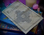 Four Elements Book of Shadows Page / Alchemy BOS Pages / Witchcraft Elemental Chart for your Grimoire / Alchemical Diagram Correspondances