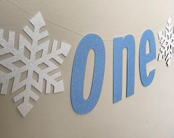 Winter ONEderland, ONE, one high chair banner, frozen banner, snowflake banner, frozen high chair banner, winter birthday, frozen party
