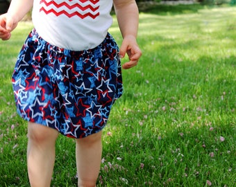 Girls Fourth of July Skirt  - Girls 4th of July Skirt - GIrls Fourth of July Outfit - Girls Patriotic Skirt - Red White and Blue Skirt