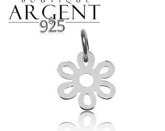 14.2 X 14.7 mm 925 Silver Pendant flower
