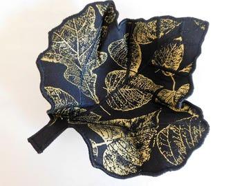 Leaf Fabric Bowl