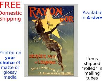 Rayon d' Or - Vintage 19th Century Art Nouveau Poster/Print (218364389)