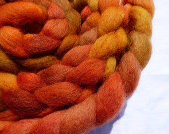 Hand Dyed Wool Roving (Top) - Exmoor Blueface, BFL & Wensleydale - 100g