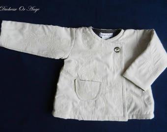 Coat baby right cream damask - 2