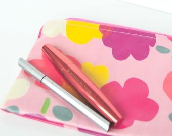 Make up bag with PUL / Waterproof / Tulip spring