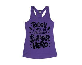 Superhero Tank - Girls Tanktop - Girls Superhero Party - Girls Birthday - Superhero Birthday - Gift for Girls - Girls Shirt - Toddler Tank