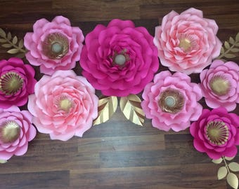 11 pc giant paper flower set