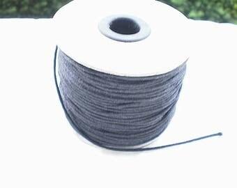 Five 2 mm black nylon thread.