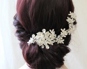 Crystal Bridal hair vine, Bridal headpiece, Wedding hair piece, Wedding Headpiece , Bridal hair piece , Bridal Back Headpiece , UK