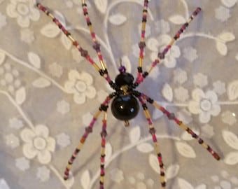 Purple & Black Spider