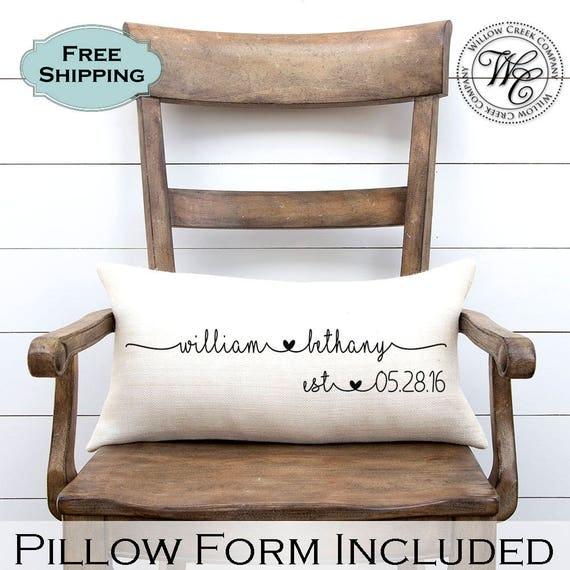 Wedding Gift Wedding Gifts Personalized Pillow Newlywed