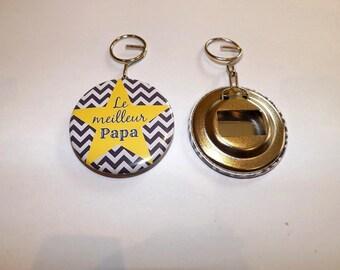 """best Dad"" keychain and bottle opener design trend"