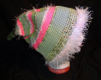 Hand Crocheted Pointed Winter Hat