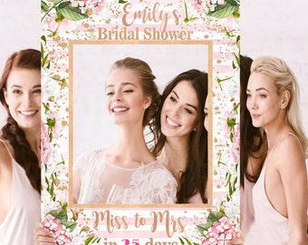 Bridal Shower Photo Prop - Wedding Photo Prop - Pink Rose Gold Photo Prop - DIGITAL FILE - Baby Shower Photo Prop - Printed Option Available