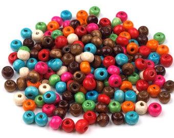 220 wooden beads, 6mm