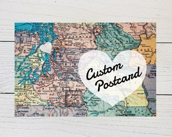 Custom Moving Postcard, New Home Card, Just Moved, New Address Announcement, Recently Moved, New Apartment, New Home Map, Digital Download