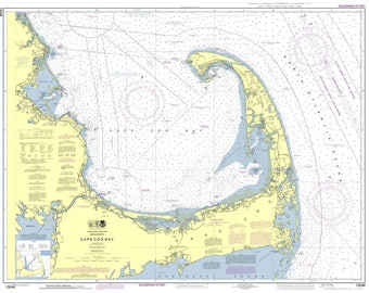 Cape Cod Bay - 2013 Nautical Map - Duxbury Plymouth Provincetown 80000 AC Custom Reprint ED 3:4 - Chart 1208 13246