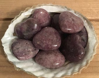Lepidolite Small Gemstone Heart, Calming and Soothing Healing Stone,Healing Crystal, Chakra Stone, Spiritual Stone
