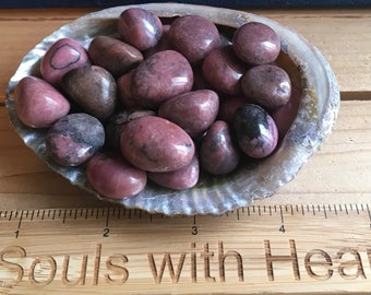 Rhodonite Small Healing Stones from Brazil, Healing Crystal,Chakra Stone, Spiritual Stone
