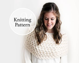 Knitting Pattern Pasquotank Cowl Instant Download