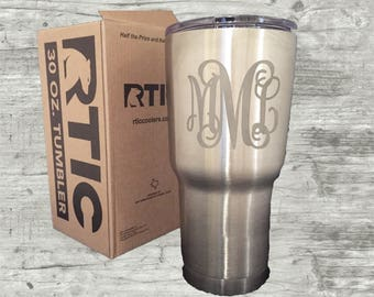Engraved tumbler, RTIC, Personalized tumbler, 30 oz tumbler, Etched tumbler, similar to Yeti, gifts for him, gifts for her, boss gifts