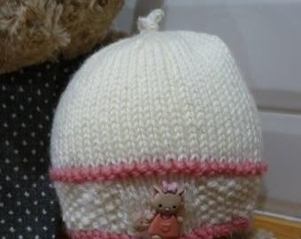 Pink Cat Baby Hat - 1843