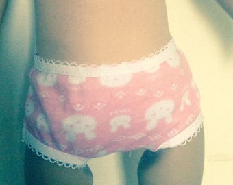 Easter bunny undies to fit 18 inch dolls such as American Girl, Our Generation etc