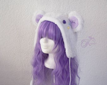 Snow teddy hat (lilac)