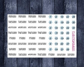 Weekend Sale Snowflake Date covers for ECLP, happy planner, or any planner