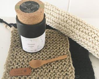 Coaster in Linen yarn