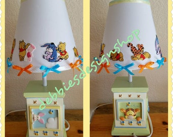 Disney's Winnie the Pooh and Friends Nursery Lamp-Embelished with Pooh, Eeyore, Piglet & Tigger