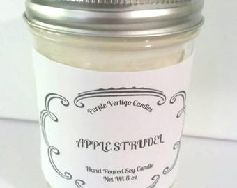 Apple Strudel, 8 oz soy Candle, Apple candle, Apple, Apple Pie, Fall Candle, Fall scent, Apple Pie candle, Apple strudel Candle, Apple Scent