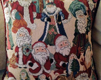 Old World Santas Decorative Pillow