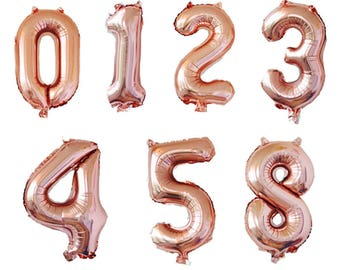 32 In Rose Gold Number Balloons
