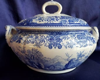 Tureen and Lid, Burgenland Blue by VILLEROY and BOCH