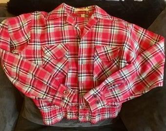 Vintage Pink Flannel jacket